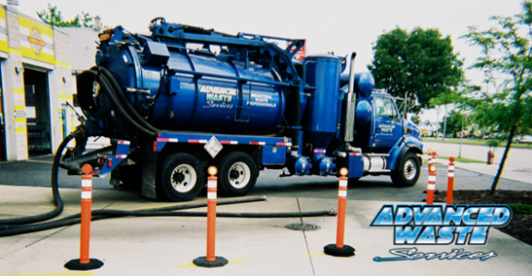 """You really need high-powered vacuum trucks to clean out a catch basin at a car wash. When it's filled with sand and mud, there's really no other way to pump it out,"" shares John Mierow, AWS Vacsimizer operator."
