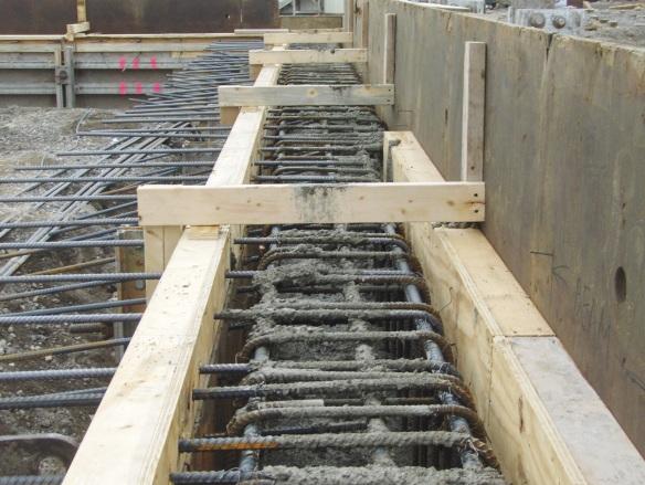 Pouring the exterior grade beam