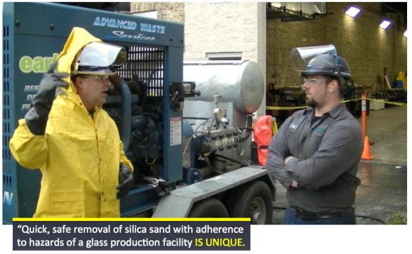 silica sand removal