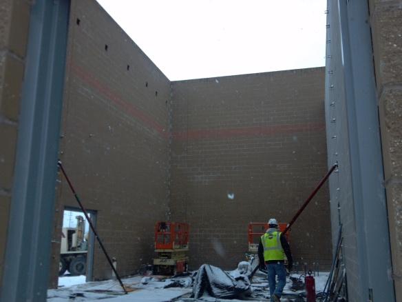 Potawatomi Digester finished walls