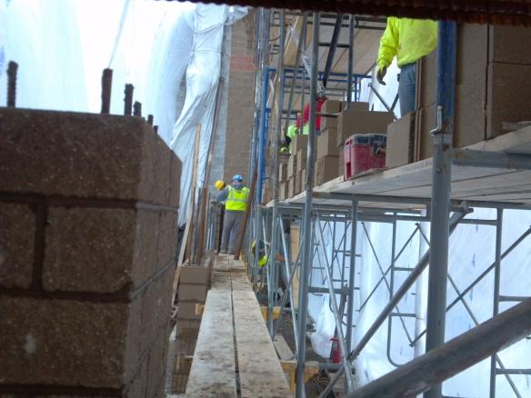Potawatomi Digester Wall Construction - cement line