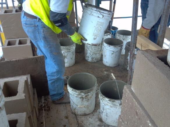 Potawatomi Digester Cement mixing