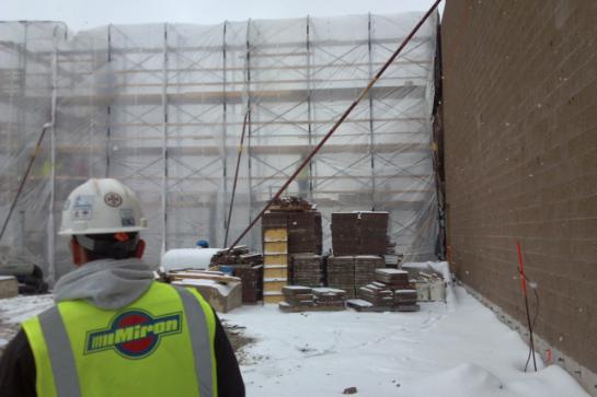 Potawatomi Digester Wall Construction