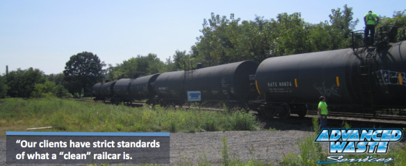 Railcar cleaning strict standards