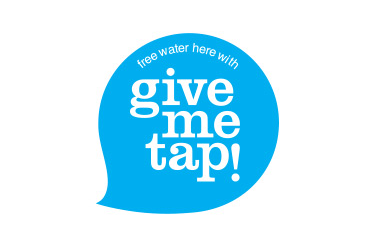 """Buy a bottle.  Get free water on the go.  Reduce plastic waste and fund water projects."" Photo Credit Givemetap.co.uk"