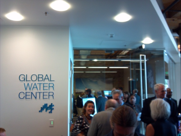 Immediately upon walking into the Global Water Center, you feel the presence and excitement in solving global water problems.