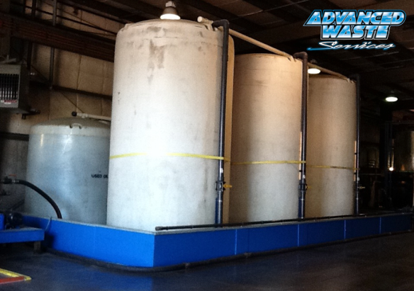 A series of incoming water holding tanks allows our industrial wastewater treatment operation to accept bulk waste streams of 5000 gallons per offload. This allows us to be incredibly efficient in treating industrial wastewater.