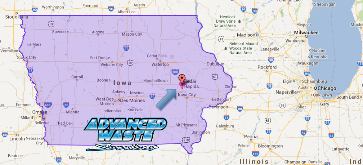 Industrial Waste Waste Treatment Cedar Rapids Iowa Map Advanced