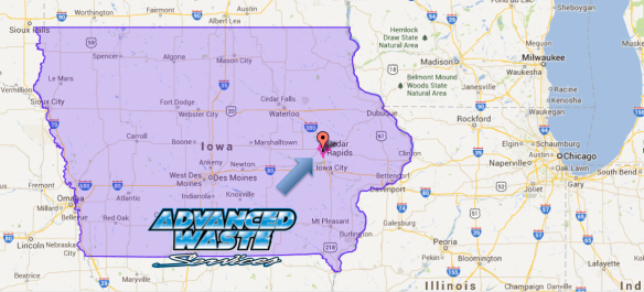 Everyday Advanced Waste Services helps Iowa Manufacturers and commercial businesses with industrial wastewater treatment services - Located at 640 63rd Ave SW, Cedar Rapids, IA 52404