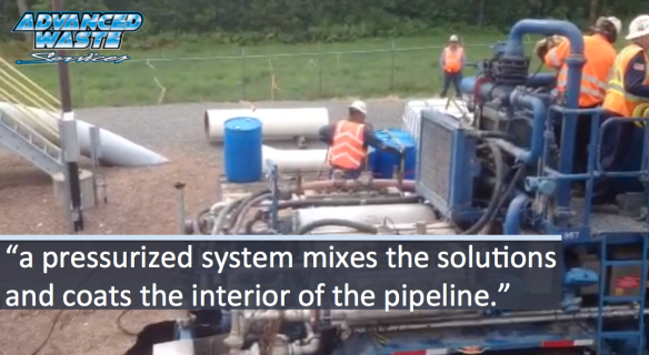 Pipeline maintenance and gel sealing pipeline cracks