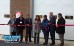 Ribbon Cutting ceremony outside the renewable energy faciity.