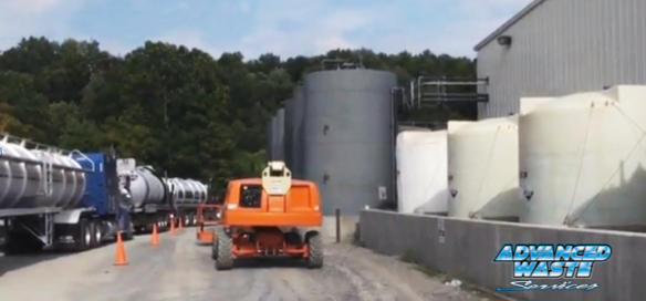 Tanker trucks in New Castle Pa
