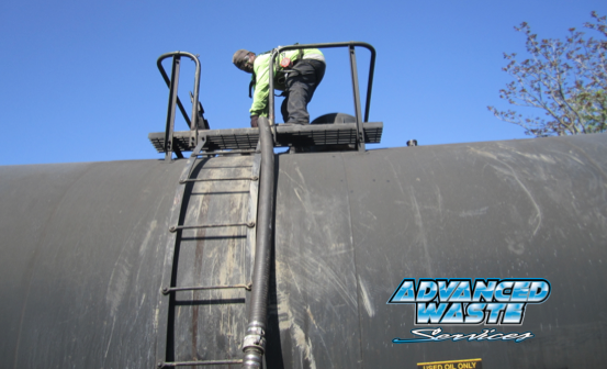 """We'll remove any ""free oil"" in the railcar with one of our high-powered vacuum trucks and recycle the oil at our nearby oil processing facility,"" shares Mark Lob AWS Operations Mgr in Cedar Rapids, Iowa."