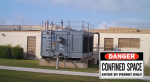 """""""Three of the greatest dangers inside a cooling tower are drowning, chemical exposure and trip hazards,"""" shares AWS Project Manager Dave Coughlin."""