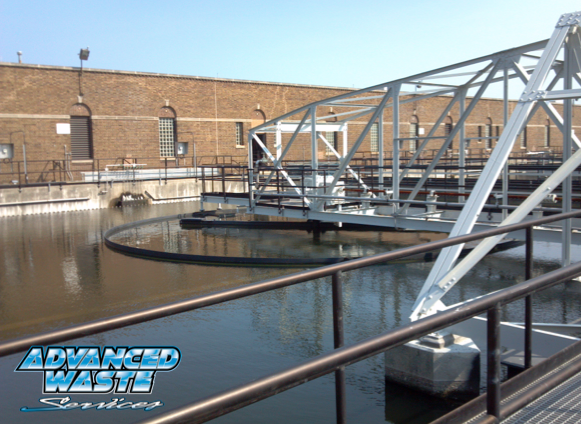 Picture of wastewater treatment clarifier